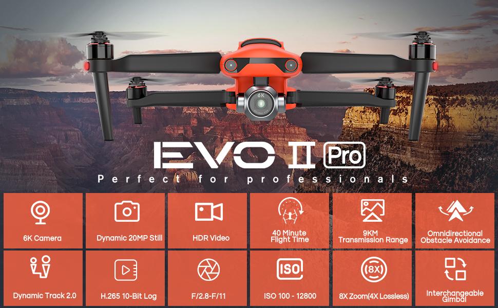 Autel Robotics EVO II Pro 6K Drone Camera Quadcopter- Banner