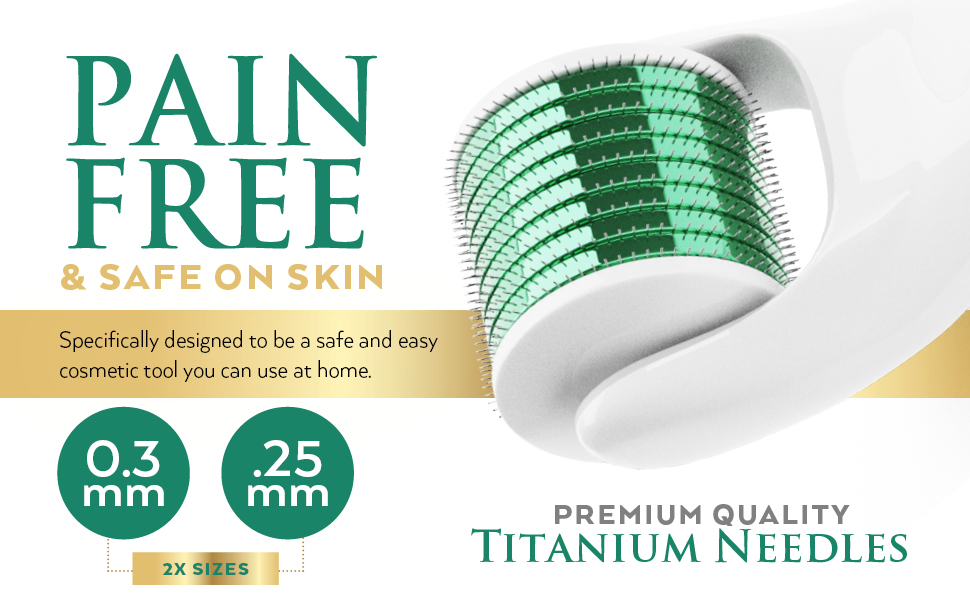 pain free skin safe micro derma roller for skin beauty