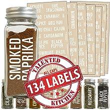 All Caps White Spice Label Set