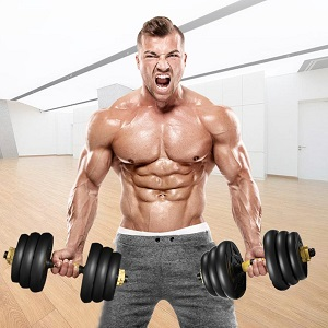 44lbs Free Weights Fitness Dumbbells Set