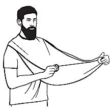 preparation beard apron for use
