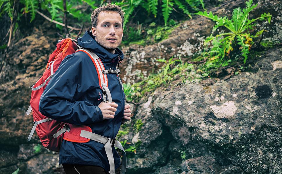 fit space rain jacket waterproof windproof windbreaker