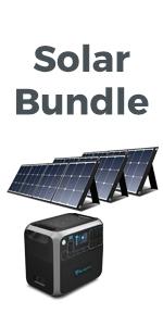bluetti ac200p solar power station with solar panel