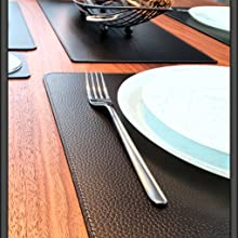 Rigid Leather Place Mats