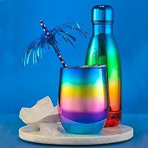 12oz Multi Color Wine TUmbler