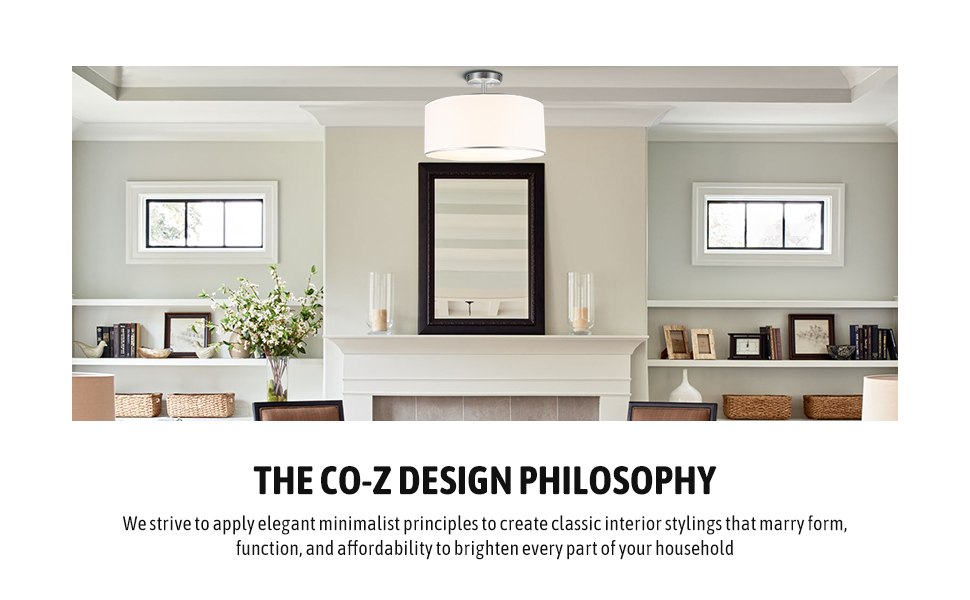 semi-flush ceiling light fixture