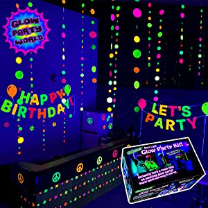 black lights for glow party world the best for large glow in the dark parties trippy room decoration