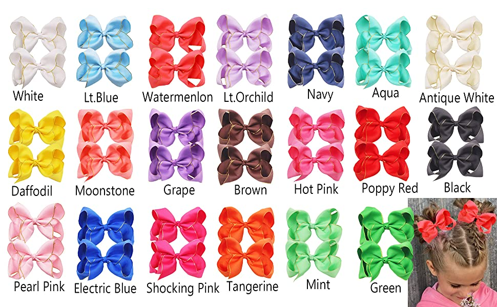 girls hair bows with clips