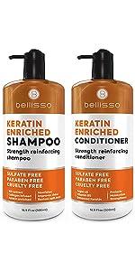 Bellisso Keratin Shampoo and Conditioner