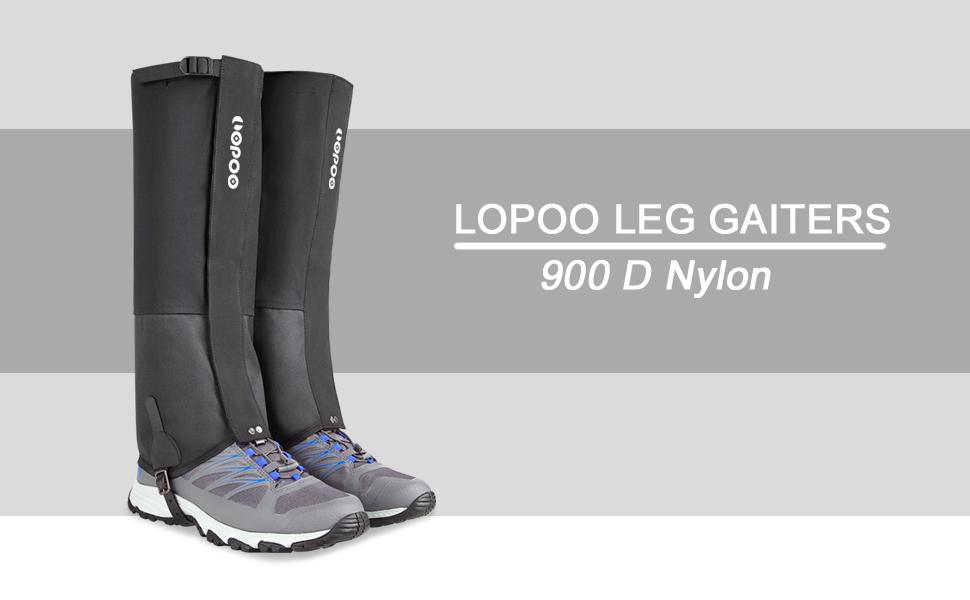 Escalada y Correr c/álidas Raquetas de Nieve Ligeras Caza Zhongtou Polainas para Hombre Polainas para piernas para Caminar para Senderismo en la Nieve Impermeables para Mujer