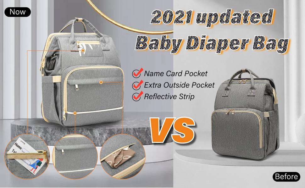 2021 updated baby diaper bag