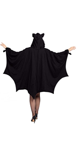Black Bat Zip Hoodie - Women