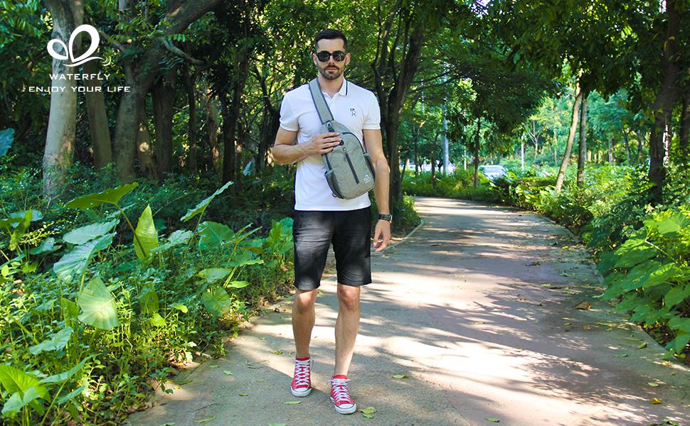sling backpack sling bag crossbody shoulder backpack men women hiking travel daily