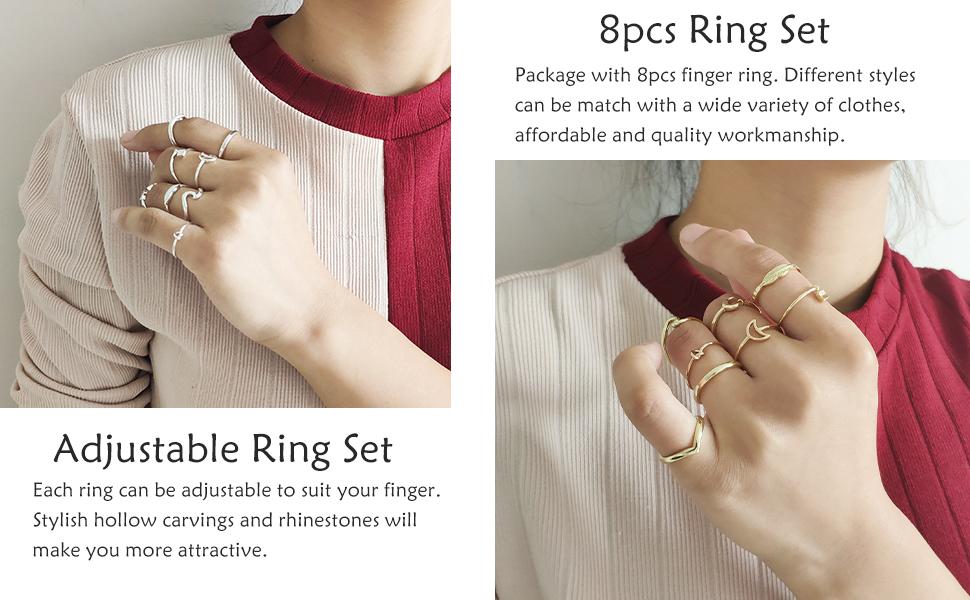 Thumb Band Rings Set