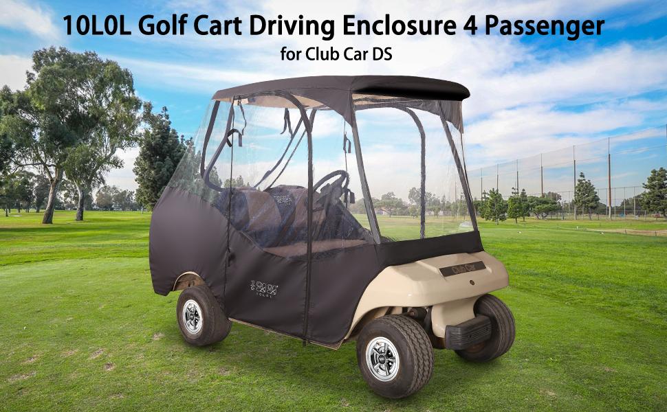 2 Passenger Golf Cart Enclosure