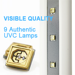 authentic real genuine uvc uv led light lamp sanitizer rechargeable for travel home office toilet