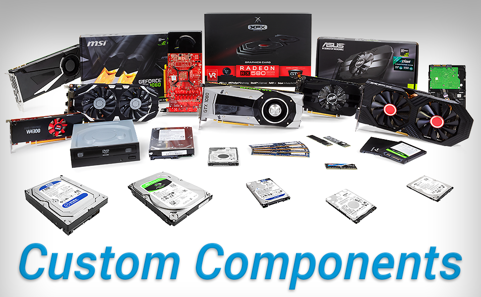 Custom Components Nvidia AMD Radeon WD Seagate Intel HP Acer Dell ASUS Crucial Lenovo Huawei