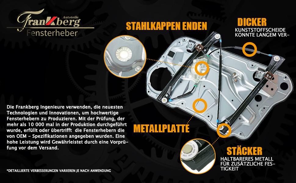 Frankberg Fensterheber Mit Grundplatte Ohne Motor Vorne Rechts Für Octavia I 1u2 Schrägheck Octavai Ii Schrägheck Kombi 1z3 1z5 2004 2013 1z1837462 Auto