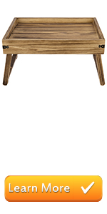 rustic brown burnt wood serving tray breakfast trays foldable legs folding trays portable server