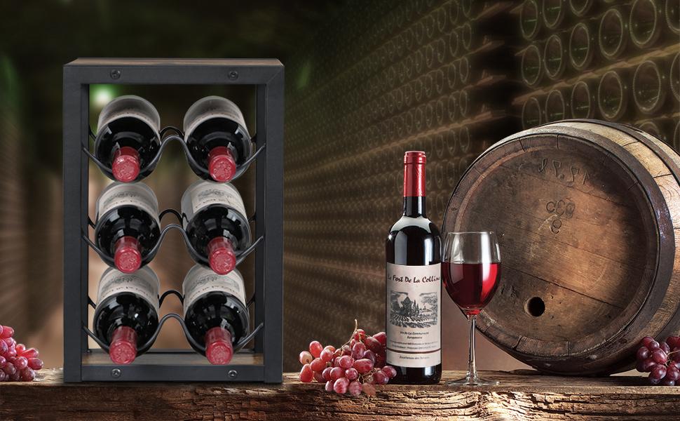 aanrecht wijnrek