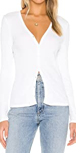 Women's V Neck Long Sleeves Cardigan Classic Button Down Sweater top 3088…