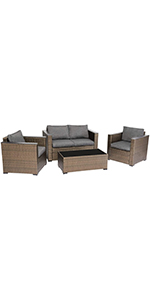 4PCs Patio Furniture Set