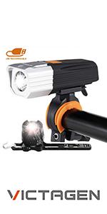 Super Bright 2400 Lumens and Free Bike Tail Light Helmet Light