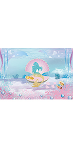 underwater world nautical crown bubble natural holiday scenery festival newborn