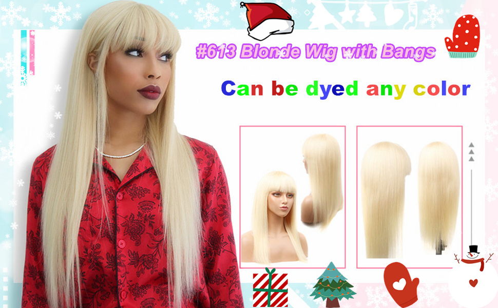 613 blonde human hair wigs straight wigs with bangs 613 straight human hair wigs blonde human hair