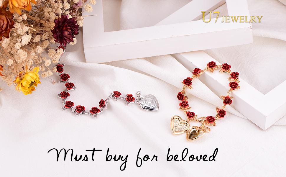Rose Flower Jewelry FOR WOMEN GIRLS