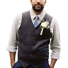 tweed blend wedding suit