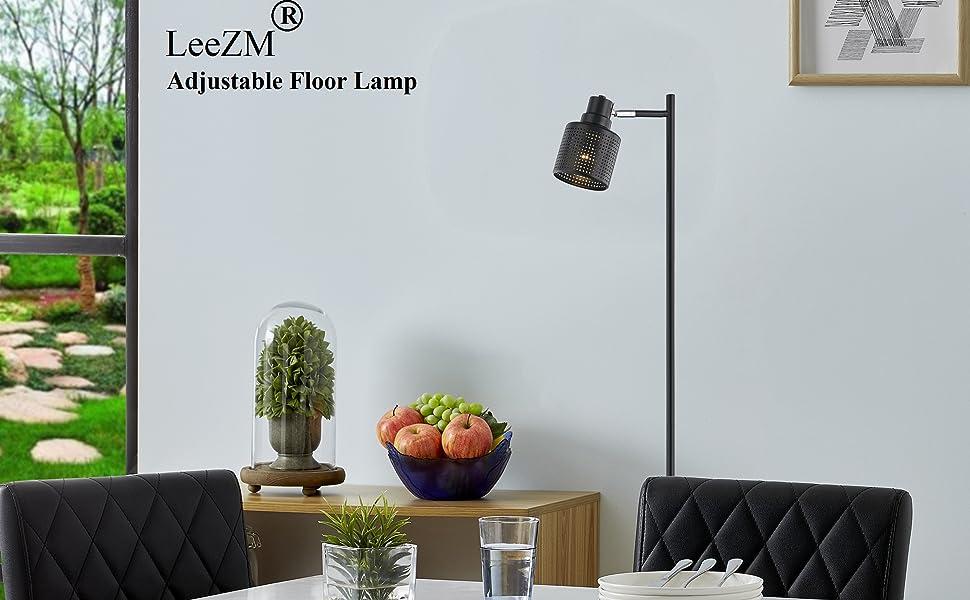 Black Industrial Floor Lamp
