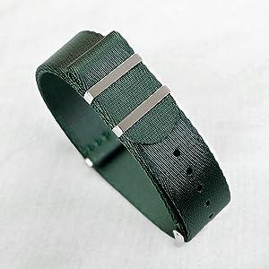 oncewill 20mm nato strap green seatbelt nylon seat belt soft