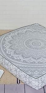 Square hippie mandala bohemian floor pillow cushion pouf pet cover