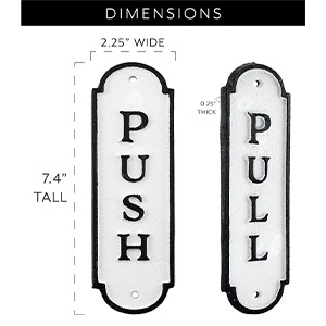 auldhome vintage home decor distressed farmhouse handcrafted cast iron push pull door signs
