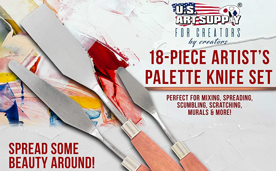 18-Piece Artists Palete Kit
