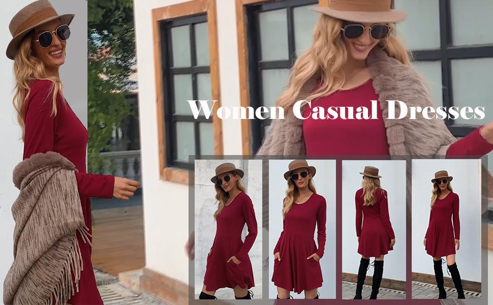 Women fall dress