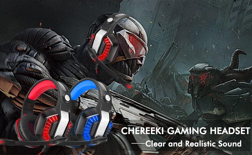 CHEREEKI Gaming Headset
