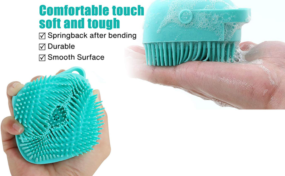 The unique design of the brush has the massage effect, promotes the blood circulation, and