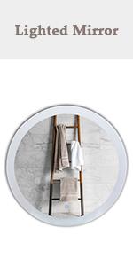 28'' Round Plug-in LED Bathroom Mirror