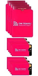 ,RFID card protector sleeve. 5 Pink Credit card protector Sleeves. Contactless Bank RFID Cardholder