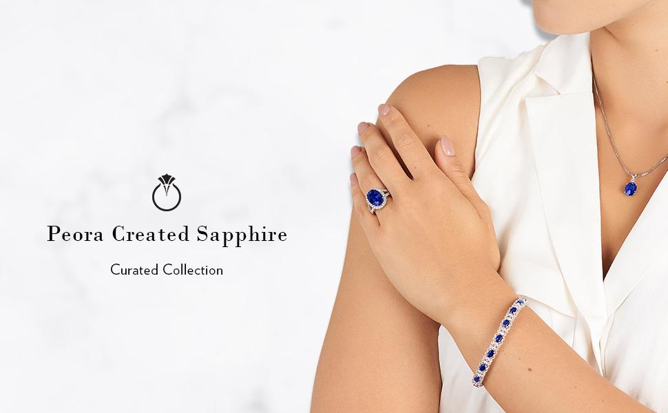 Peora Created Sapphire