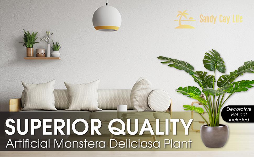 Premium Quality Artificial Monstera Plant
