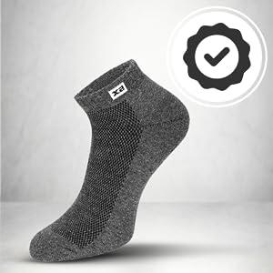 Supersox Men's Half Terry Cushion Special Design Sneaker Length Socks SPN FOR 1