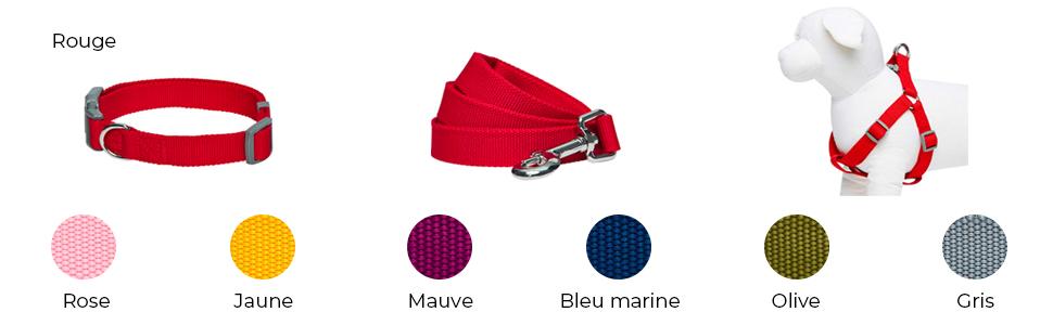 couleur unie by Classic Mauve taille S Harnais r/églable pour chien largeur de poitrail 42-54 cm Umi