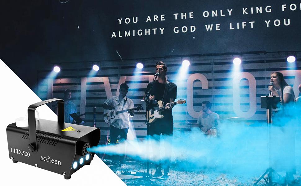 fog machine with led lights