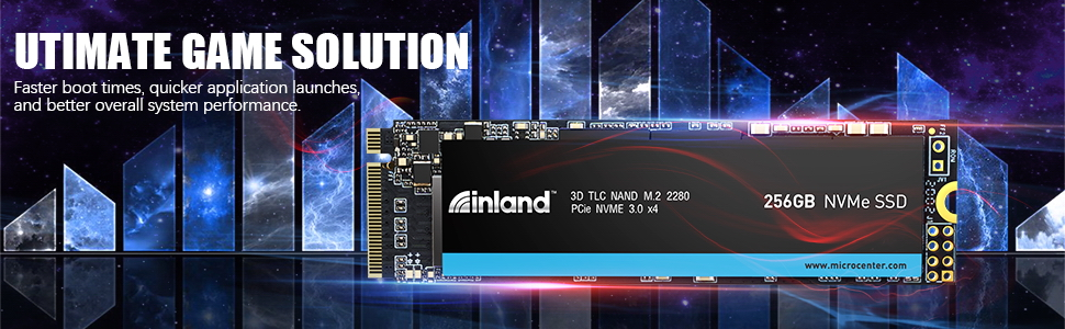 3D TLC NVMe Solid State Drive  ultimate gaming solution. Faster boot times & system performance.