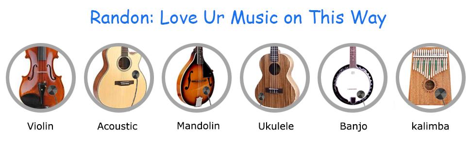 DIGOOD Randon Acoustic Guitar Pickup Piezo Contact Pickup for Guitar Guitar Violin Banjo Mandolin Ukulele.