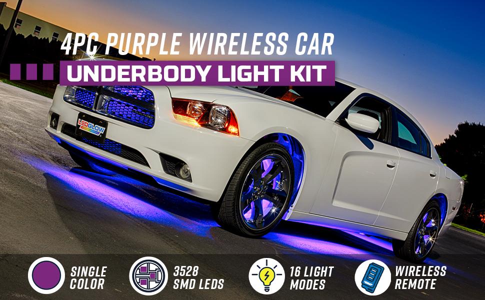 Plasmaglow 10608 Orange Flexible LED Under Car Kit