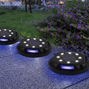 MAGGIFT Disk Lights Outdoor